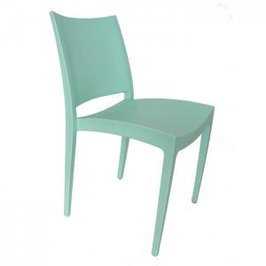 China Simple Restaurant Plastic Chairs Green , Stacking Dining Chairs on sale