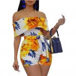 Bodycon Boho Jumpsuits for Women -Off Shoulder Bandage Tie Dye Short Rompers Beach Club Outfits tye dye jumpsuit