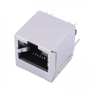China Shielded Modular Jack 8P8C With Led Light Vertical RJ45 Connector on sale