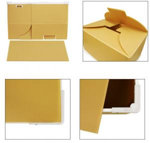 China Folding / Collapsible PP Plastic Corrugated Boxes For Moving / Packing / Storage on sale