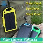 Banco 5000mAh das energias solares para o telefone móvel