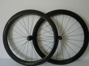 Quality 50mm Carbon Clincher / Tubular Carbon Bike Wheelset 700C of 20 / 24 Holes by EPS for sale
