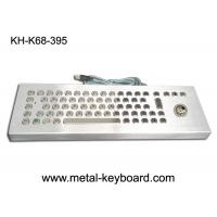 China 70 Keys Rugged Desktop Industrial Computer Keyboard Kiosk Metal on sale