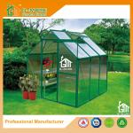 Low Cost Agriculture Green Color Aluminum Green House With Water Pipe - 216x216x220cm