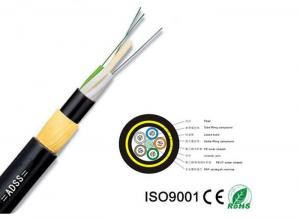 China Adss Apply To High Voltage Power And Have Aramid Yarn All-Dielectric Self-Supporting 12-144 Core Optic Fiber Cable on sale