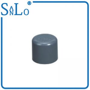 China Sealing Rubber Ring Sch 40 PVC Pipe Fittings , Plumbing Industrial Pipe End Plugs on sale