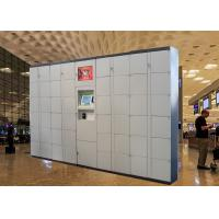 Semi Outdoor 24 Hours Electronic Smart Luggage Lockers for Beach Park / Airport / Bus Station