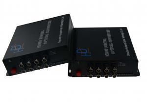China SM 20km Video To Fiber Converter , 2 SC Full HD Video Converter AC DC Powered on sale