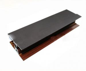 China Wood Finish / Powder Coated Aluminum Profile For Door And Window ISO 9001 Approved on sale
