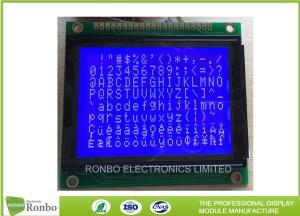 China STN Blue Negative Graphic LCD Module 128 X 64 Dots ISO9001 Certification on sale
