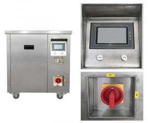 China PLC Control Ultrasonic Cleaning Machine Dual Frequency Built In Generator on sale