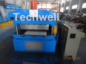 China PU Cold Roll Forming Equipment , Roof Panel Roll Forming Machine PLC Electrical Control on sale