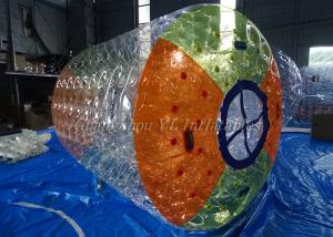 China Colorful Inflatable Water Roller , Inflatable Swimming Toys Inflatable Fun Roller on sale
