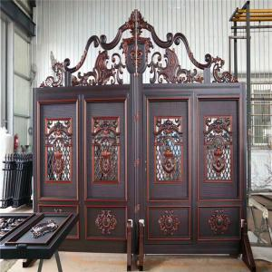 China Galvanized Steel Cast Iron Door Anti Cracking Easily Assembled Black Color on sale