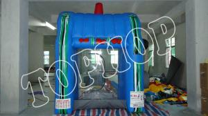 China Blue Inflatable Sports Games Inflatable Cash Machine With EN14960 on sale