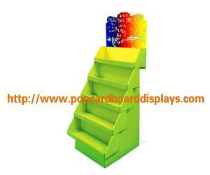 China foldable green Cardboard pop display For Supermarket Water Bottles on sale