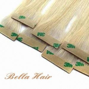 China Hair Extensions  PU Skin Weft Human Hair Weave on sale