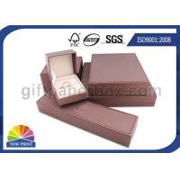 Small Paper Jewelry Box Custom Gift Packaging Box with Foam Inside , Matt Lamination