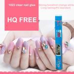 1.5g HQ free(below 200PPM) clear Nail glue nail art for stick fake nail