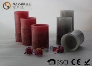 China Ivory Color Battery Operated Candles , Flameless Pillar Candles Long Lasting on sale