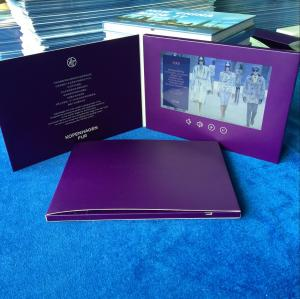 China Promotional paper craft Style and event launch 7inch LCD screen video brochure card Video booklet for product marketing on sale