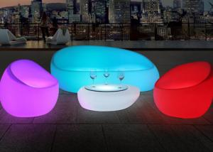 China Illuminated Couch Living Room Modern Sofa Set With Led Light , IR Remote Control on sale