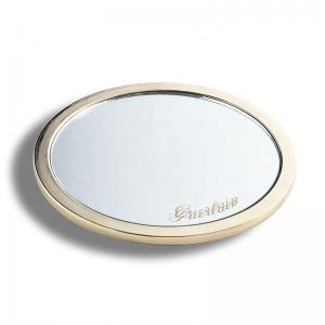 China Single Sided Mens Compact Mirror , Round Cosmetic Mirrors For Purses on sale