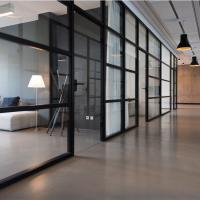 high quality clear float tempered glass for commercial glass office entry door