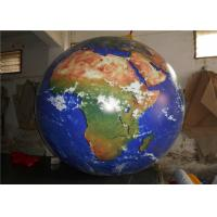 Large 0.2mm PVC Inflatable Advertising Signs / Inflatable Earth Ball For Sale