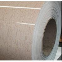 Colored Galvanized Steel Wooden Sheet PPGI For Wall Panel 5microns - 7microns
