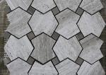 Grey Serpeggiate Marble Mosaic Pattern Tiles , Indoor Marble Mosaic Floor Tile