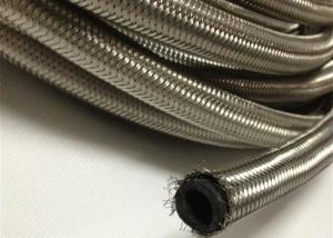 China AN4  / AN 6 Braided Rubber Fuel Hose for Automotive , Stainless Steel Outer on sale