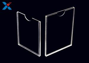 China Vertical Plastic Double Sided Sign Holder , Acrylic Holder Stand 8.5 X 11 on sale