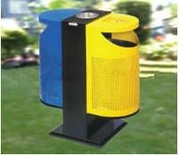 China Non-toxic easily cleaned-up  Outside Standing  stainless Steel Garbage Bin with ISO on sale