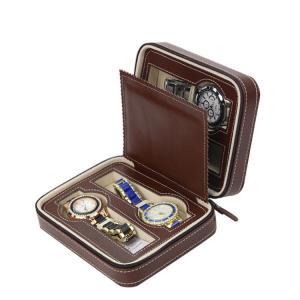 China Luxury Watch Storage Case Zipper Closing , Watch Display Case Jewelry Decoration on sale