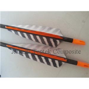 China various kinds of carbon archery arrow, barred true feather carbon fiber arrow on sale