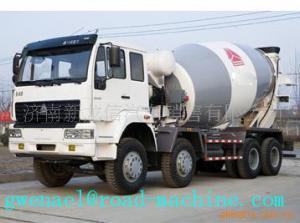 China 8cbm 10cbm Mixer Trucks / 8x4 Concrete Mixer Trucks 336 Horsepower on sale