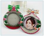 China Shinny Gifts Enamel metal circle photo frame wholesale