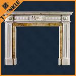 Customized Granite Fireplace Mantel For Home Decorative , Natural Stone