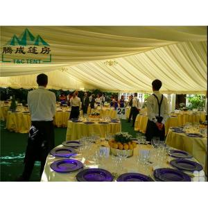 China 15x20m White PVC Outdoor Waterproof Canopy Tent Can Fire Retardant With Windows on sale