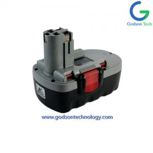 China Bosch-18V Ni-Cd Ni-MH Battery Replacement  Power Tool Battery Cordless Tool Battery Black & Red & Grey Color on sale