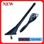"China ISO9001 Top Mounted AM FM Car Antenna Spring Mast 7"" Black Plastic For Car wholesale"
