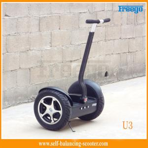 China Security Stand Up 2 Wheel Self Balancing Scooter Brushed DC Motor Tubeless Tire on sale