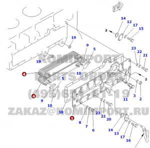komatsu D155 D355 bulldozer oil cooler bracket 6127-61-2113 oil