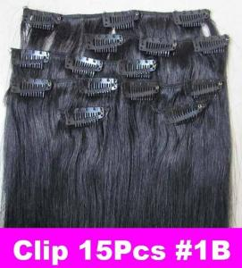 China Clip in human hair extension on sale
