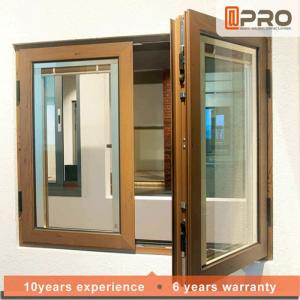 China Wind Proof Aluminum Casement Windows Customized Size Safety Window Grill Design FRENCH ALUMINUM CASEMENT WINDOW on sale