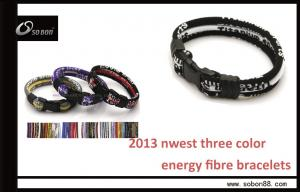 China SOBON Anti-static Silicone Three Color Rope Infrared Energy Balace Braised Rope Bracelet on sale