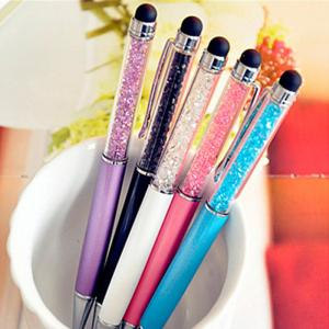 China Creative Crystal Stylus Touch Pen Refill 0.7 Mm With Silk Printing Logo on sale
