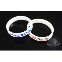 China Multi Colored Custom Plastic Bracelets Embossed Silicone Wristbands For Events on sale