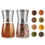 Glass Salt and Pepper 132mm 235g 170ml ceramic spice mill